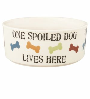 PetRageous Designs One Spoiled Dog Bowl, 5.5 cup for Sale in Muncie, IN
