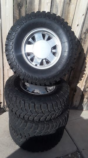 Selling tires with Chevy stock rims for Sale in Tucson, AZ