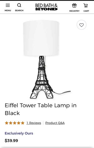 Eiffel Tower lamp for Sale in Portland, OR