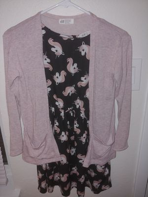 H & M Unicorn dress with cardigan for Sale in Parkland, WA