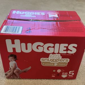 Huggies Little Snugglers Diapers - Size 5 (58ct) for Sale in Frisco, TX