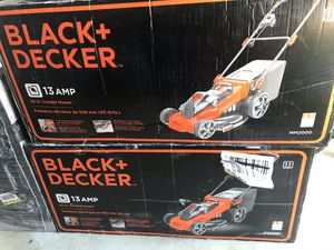 Black and Decker Lawn Mowers 13 amp 20inch corded electric for Sale in San Bernardino, CA