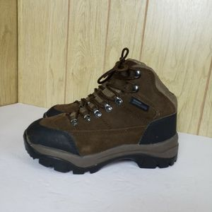 Rugged Exposure Brown Genuine Leather Boots Unisex Mens Size 7.5 Womens 8.5 for Sale in Redmond, WA
