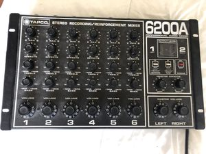 TAPCO 6200A Pro Audio Mixer for Sale in San Diego, CA