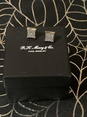 Diamond Earrings In stainless Steel (1/4 ct) for Sale in The Bronx, NY