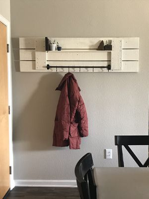 Handmade Entryway Coat Rack with shelf for Sale in Westminster, CO