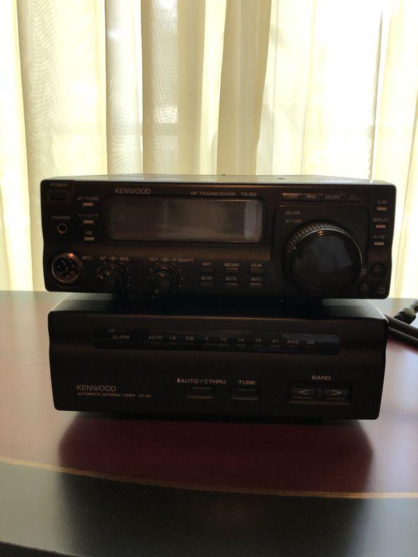 kenwood ts-50, at-50, mc-60 ham radio bundle