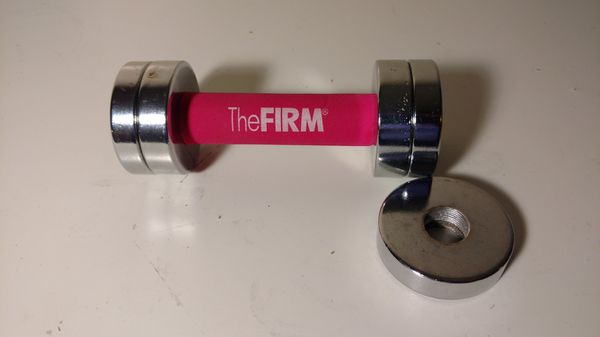 The firm set of 2 adjustable dumbbell weight set