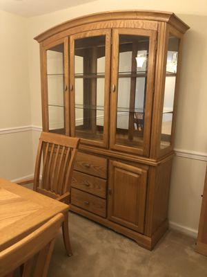 Cottage oak solid dining furniture from Huffman Koos excellent condition for Sale in Bloomfield, NJ