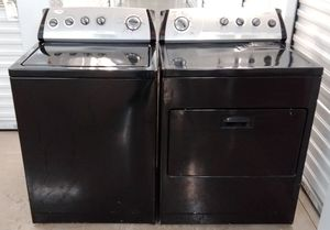 WHIRLPOOL BLACK AND SILVER PANEL HEAVY DUTY WASHER AND DRYER ON SALE WITH WARRANTY AND DELIVERY AVAILABLE for Sale in Irving, TX