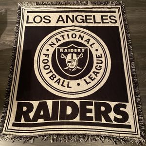 Vintage Los Angeles Raiders throw blanket for Sale in Daly City, CA