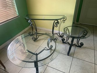 Glass Coffee table and end table for Sale in Miami,  FL