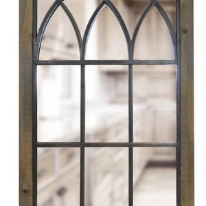 Rectangle Weathered Brown Antiqued Contemporary Mirror (37.5 in. H x 24 in. W) for Sale in Dallas, TX