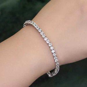 Moissanite Sterling Silver 925 Tennis Bracelet Diamond Iced Out for Sale in Riverside, CA