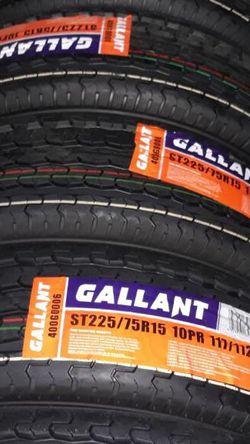 St Tires 225-75r-15 Trailer Tires Set $260 for Sale in Menifee,  CA