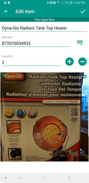 Radiant Tank Top Heater for Sale in Indianapolis, IN
