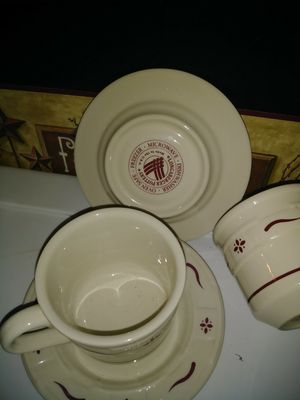 Longaberger Pottery Cups Saucers for Sale in Columbus, OH