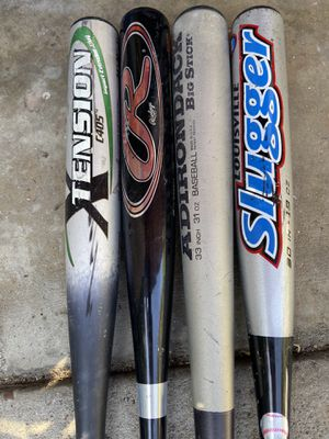 Aluminum baseball bats 30 inches to 33 inches for Sale in Cerritos, CA