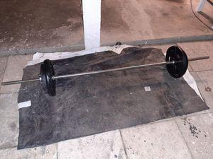 6ft Standard Bar W/ 76.4lb Weights & Star Collars [Read Description] for Sale in Phoenix, AZ