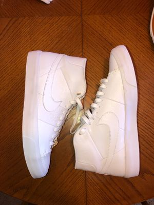 Unworn Nike Blazer Mid QS size 11.5 men's white shoes for Sale in Tampa, FL