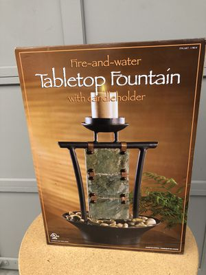 Table Top Fountain with Candle for Sale in Tacoma, WA
