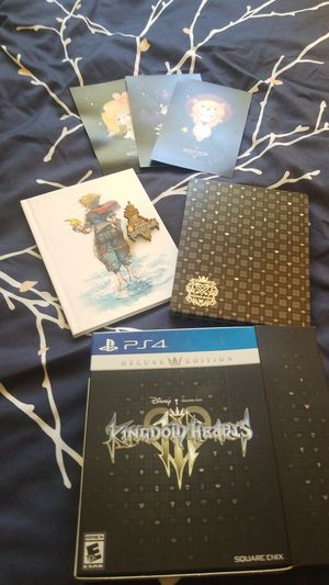 Kingdom hearts 3 deluxe edition extras. No game disc for Sale in Portland, OR