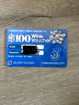 100 dollar Wine Voucher for Sale in Los Angeles, CA