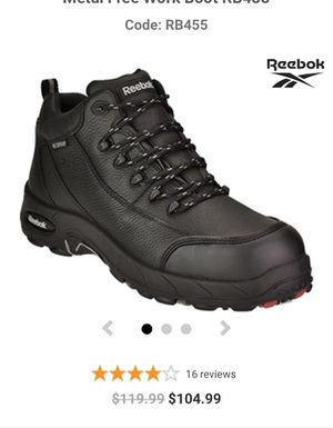 Women's Reebok Composite Toe WP Metal Free Work Boot RB455 size 7w for Sale in Moreno Valley, CA