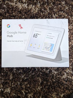 Google - Nest Hub with Google Assistant - Chalk for Sale in Modesto, CA
