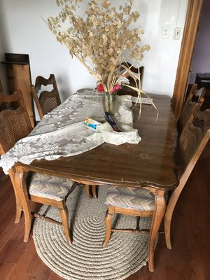 Used table and chair. Probably needs re surfaced for Sale in White Hall, WV