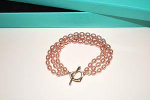 Tiffany & Co. Elsa Peretti Pink Pearl Open Heart Bracelet for Sale in Kenosha, WI