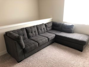 Large used gray sectional couch for Sale in Snoqualmie, WA