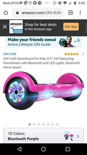 Bluetooth hoverboard works perfect for Sale in Irving, TX