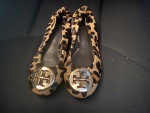 Tory Burch flats leopard Size 7 for Sale in Honolulu, HI