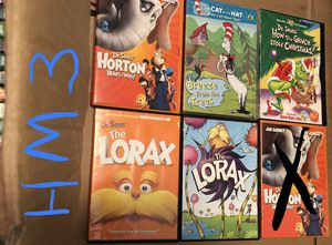 5 Dr. Seuss Movies for $10 - Lorax , Horton Hears a Who, Grinch & Cat in the Hat for Sale in Allentown, PA
