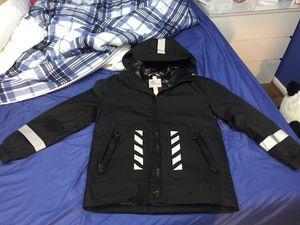 Men's moncler off white down jacket black for Sale in NO POTOMAC, MD
