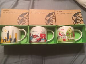 Starbucks You Are Here mugs - retired for Sale in Falls Church, VA