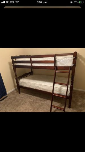 Mire cheerry bunk bed with mattress/29 down for Sale in Stafford, TX