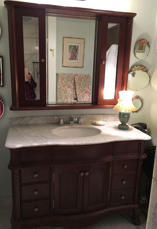 Beautiful Bathroom Vanity with Matching Mirrored Medicine ...