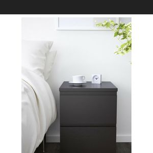 Nightstand Black MALM (Like NEW) for Sale in Miami, FL