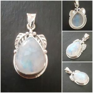 92.5 Sterling Silver Rainbow Moonstone Scarub Pendant for Sale in Pawtucket, RI