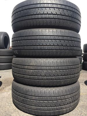 255/55/20 Bridgestone set of used tires in great condition 70% tread 250$ for 4 . Installation balance and alignment available. Road force balance a for Sale in Cranford, NJ