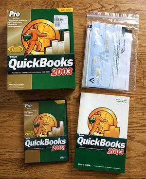 Quickbooks Pro 2003 for Sale in Naperville, IL