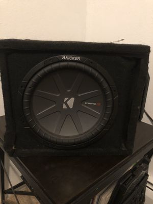 "Kicker CompR 12"" and Kenwood amp for Sale in Golden, CO"