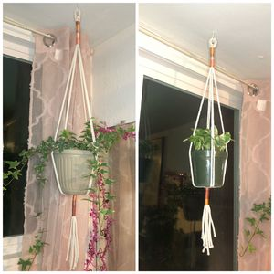 Set of Two Macrame Plant Hangers for Sale in Farmersville, CA