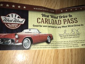 Capitol Drive In full Carload Pass admission ticket for Sale in Union City, CA