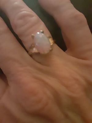Great gemstone ring with goldtone setting. for Sale in PT CHARLOTTE, FL