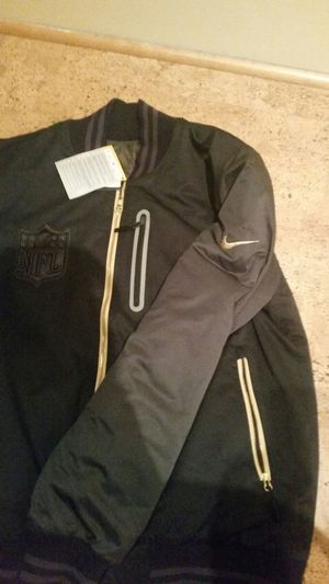 "Exclusive nike black and gold jacket. Written ""BB51"". Size large. Black and gold. Reversible for Sale in Portland, OR"