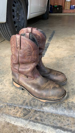 Tony Lama work boots size 10 EE good condition steel toe for Sale in Pumpkin Center, CA