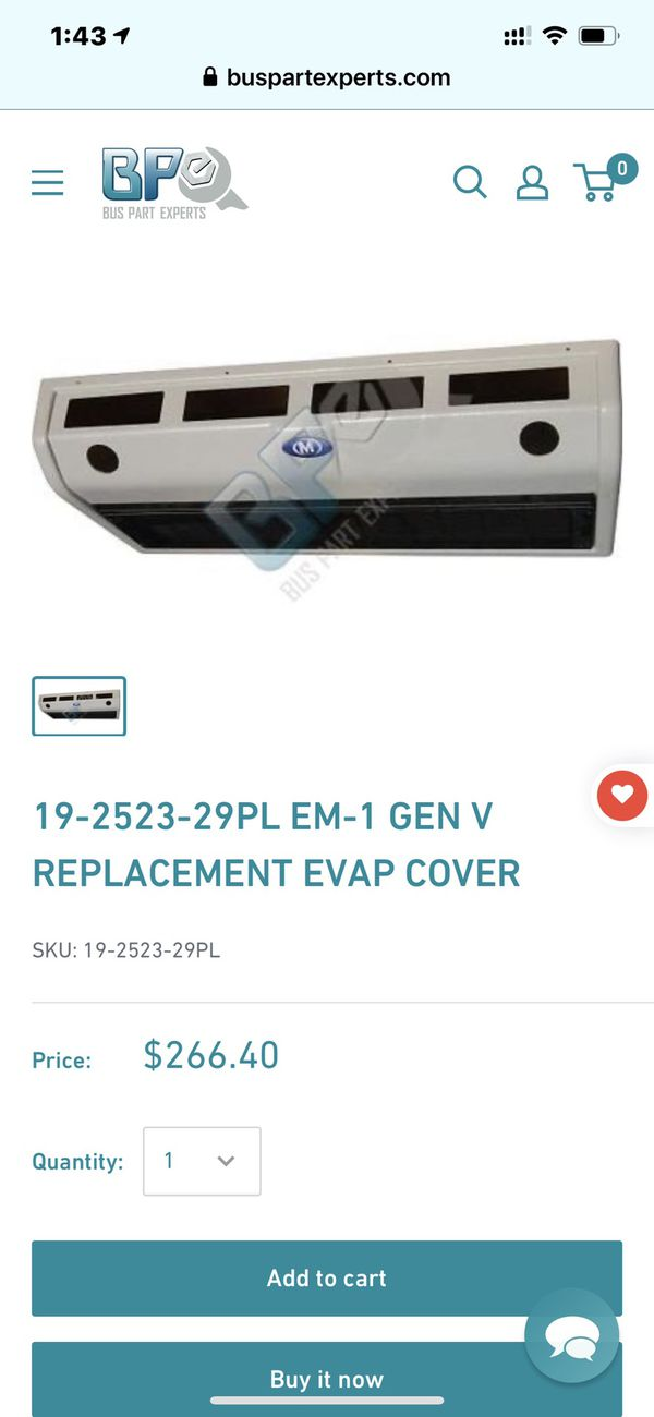 Carrier transicold bus motorhome rv air conditioning unit.